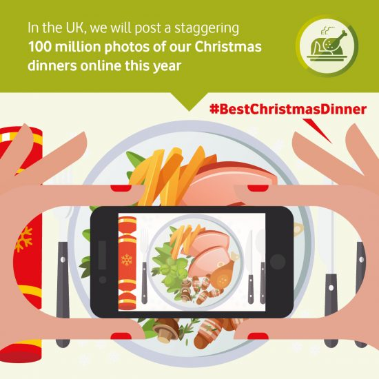 Feast your mince pies on this: in the UK we will share 100 million photos of our Christmas dinners on the big day