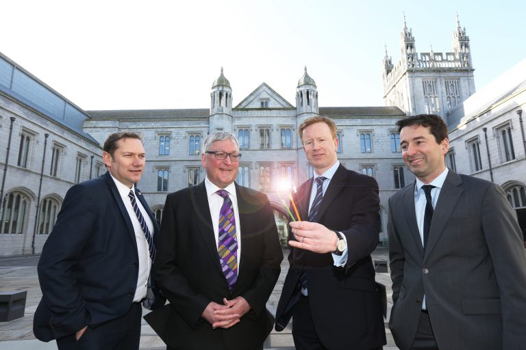 Pictured (L-R): Cllr Douglas Lumsden, Co-Leader of Aberdeen City Council; Fergus Ewing MSP, Cabinet Secretary for Rural Economy and Connectivity; Rob Hamlin, Commercial Director, CityFibre; Guilhem Poussot, Head of Fibre Broadband, Vodafone UK