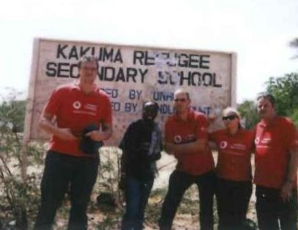 Photo of the Vodafone Foundation's Instant Network team at the Kakuma refugee camp in Kenya