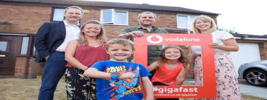 First UK families receive Vodafone gigabit speed home broadband