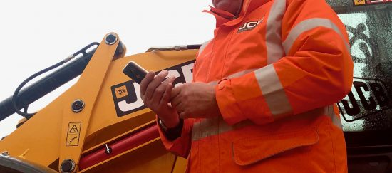 jcb employees at a staffordshire quarry are now fully connected thanks to a vodafone mini mast
