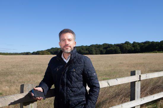Vodafone UK CEO Nick Jeffery in rural setting