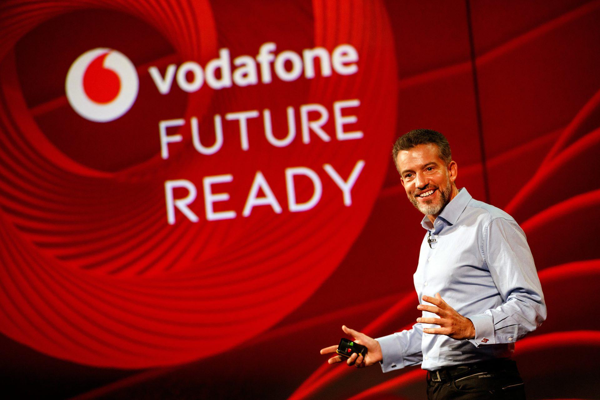 Nick Jeffery, Vodafone CEO speaking at Vodafone Newbury, 20 September 2017