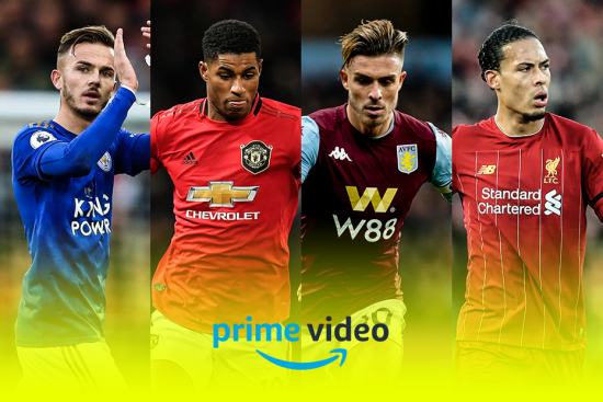 Montage of Premier League footballers