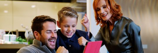 Jamie Redknapp and family play Vodafone's Family Festive Game on VeryMe