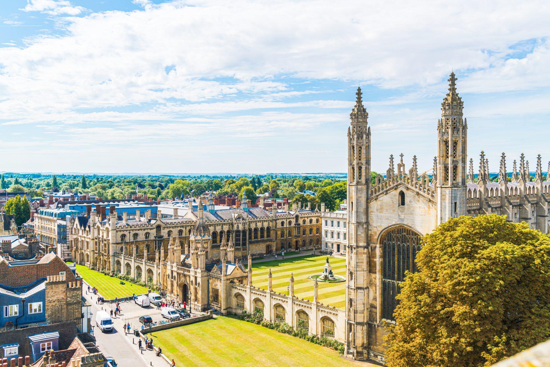 Aerial shot of Cambridge