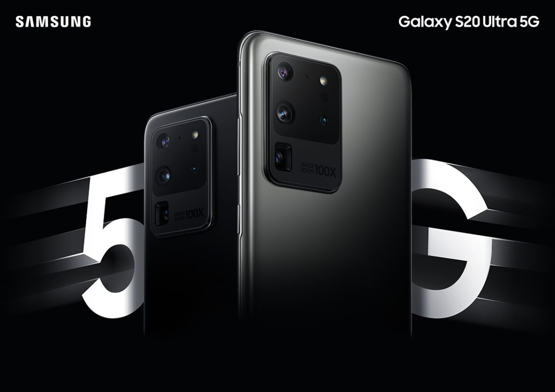 promotional image of the Samsung Galaxy S20 Ultra 5G