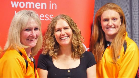 cropped photo of Giselle Mather, Kelly Phillip and Harriet Millar-Mills