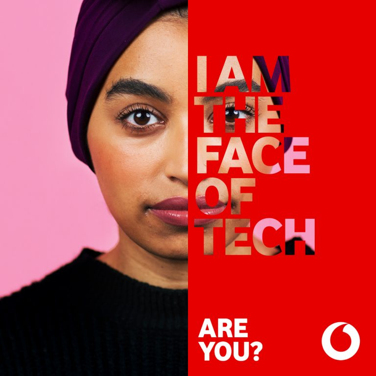 graphic for Vodafone's Change The Face gender equality campaign