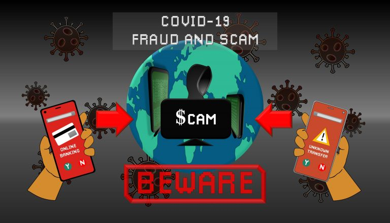 Covid-19 Fraud and Scam graphic