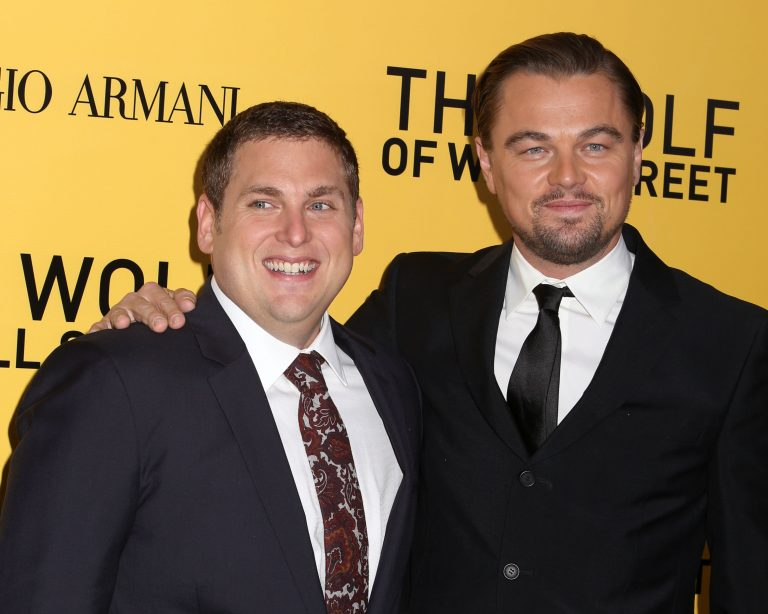 Jonah Hill (left) and Leonardo DiCaprio at the New York premiere of The Wolf of Wall Street in 2013