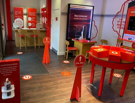 Vodafone welcomes customers safely back to the high street
