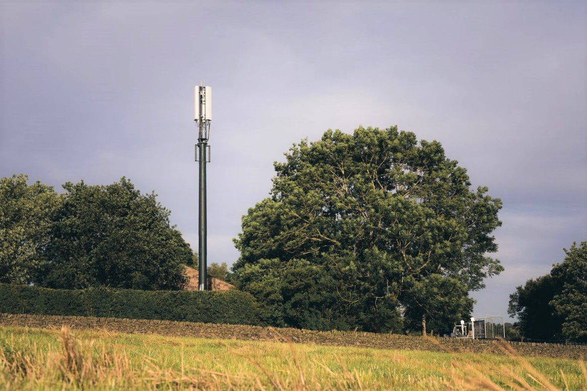 New Shared Rural Network mast, Longnor, Staffordshire Peak District