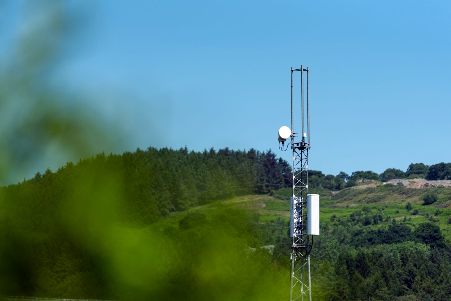 photo of Vodafone UK's first OpenRAN mast