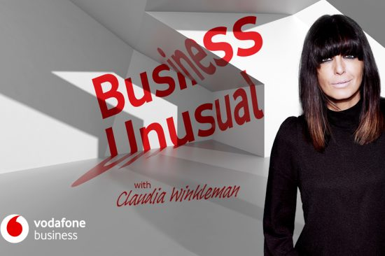 Claudia Winkleman, Host, Vodafone Business Unusual Podcast Graphic