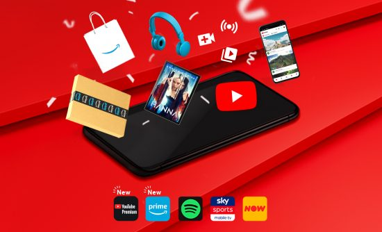 Vodafone expands entertainment offering with addition of Amazon Prime and YouTube Premium