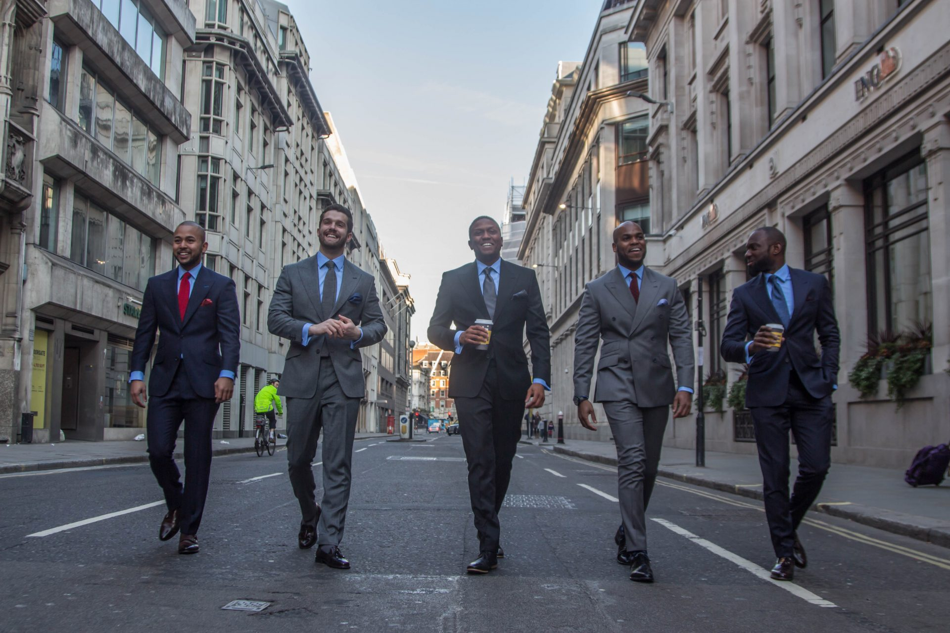 Male models wearing bespoke suits