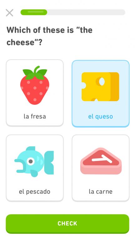 Duolingo app schreenshot