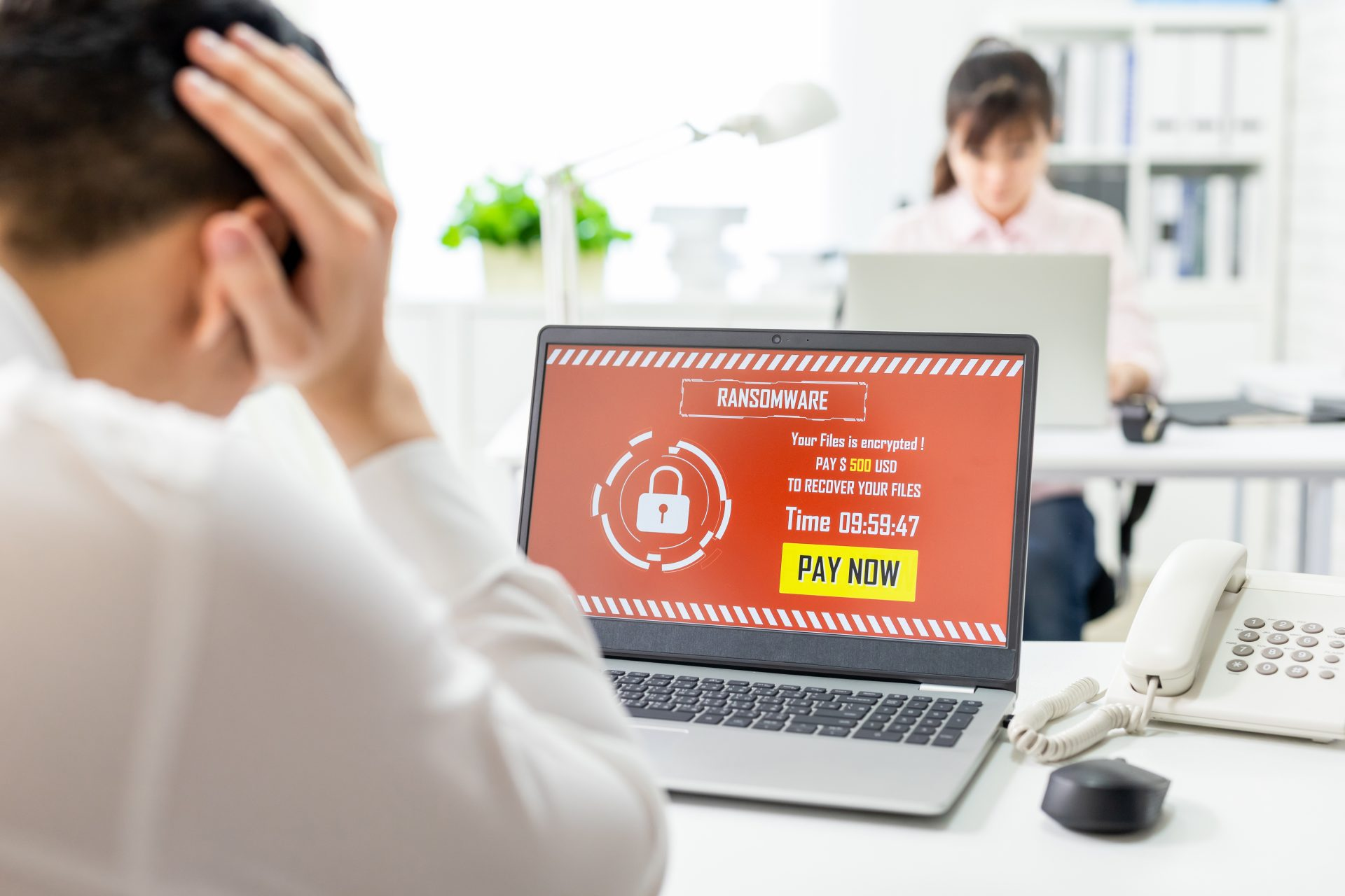 Ransomware attack on laptop