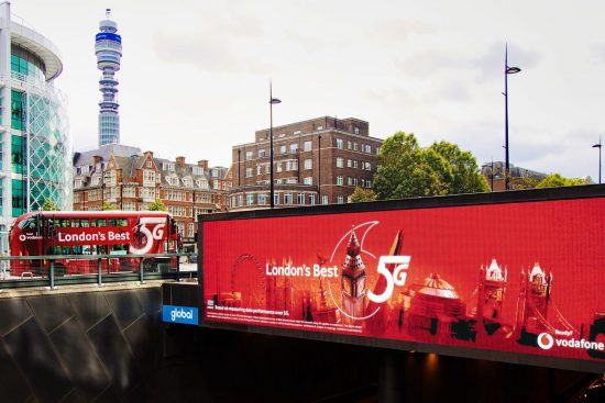 London's Best 5G digital billboard and bus