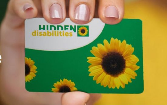 Hidden Disabilities Sunflower card