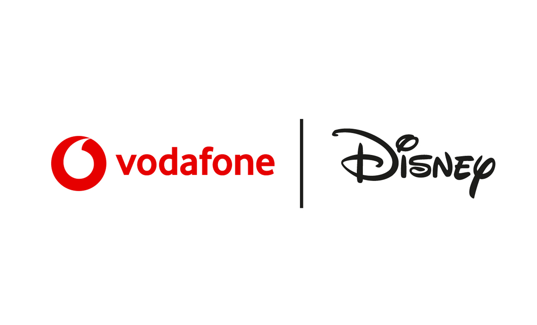 an image showing both the Vodafone and Disney logos