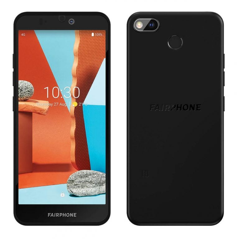Fairphone 3 front and back