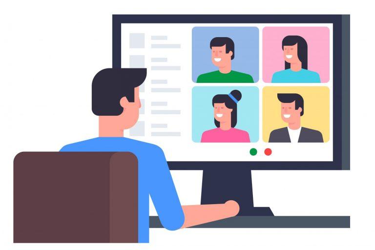 Video conferencing cartoon