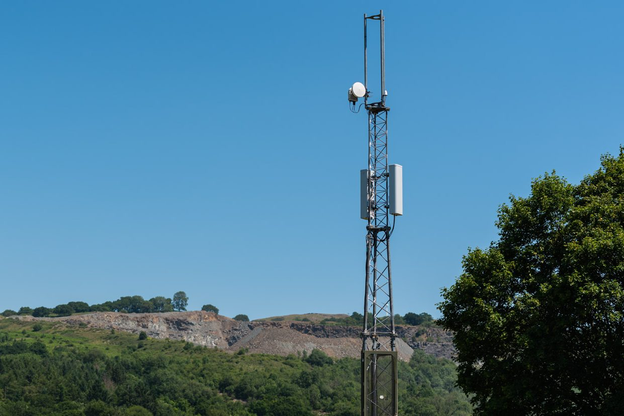 OpenRAN mast site, Royal Welsh Showground, Builth Wells, Powys