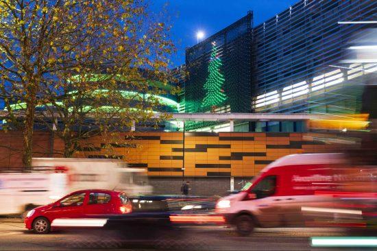 illustrative photo of the Vodafone Light Up display in Bristol