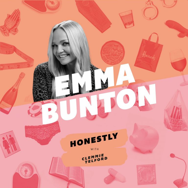 Clemmie Telford Podcast with Emma Bunton flyer