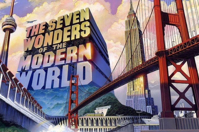 The Seven Wonders of the Modern World graphic