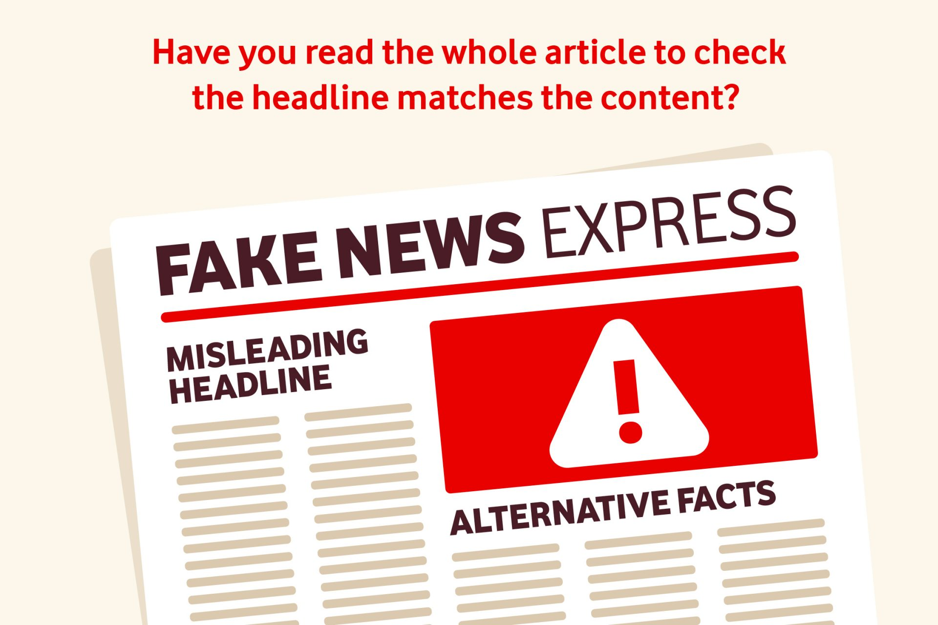 Fake News Express graphic