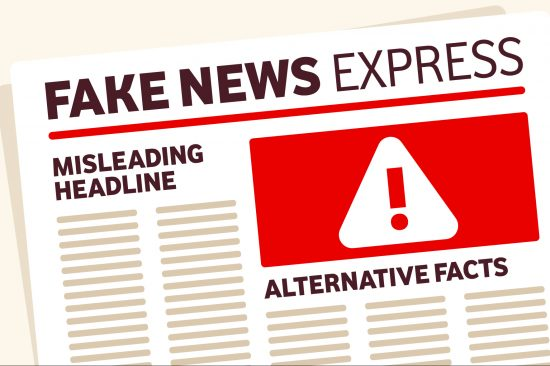Fake News Express graphic