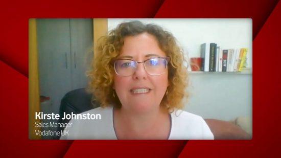 Kirste Johnston, Vodafone UK