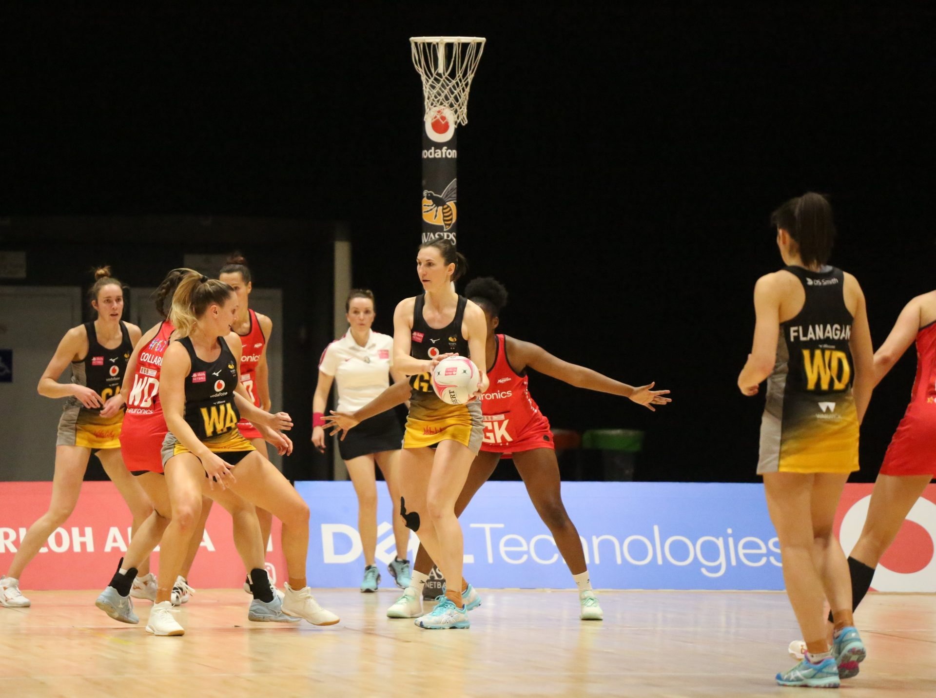 image of the Wasps Netball team during the 2019-20 season