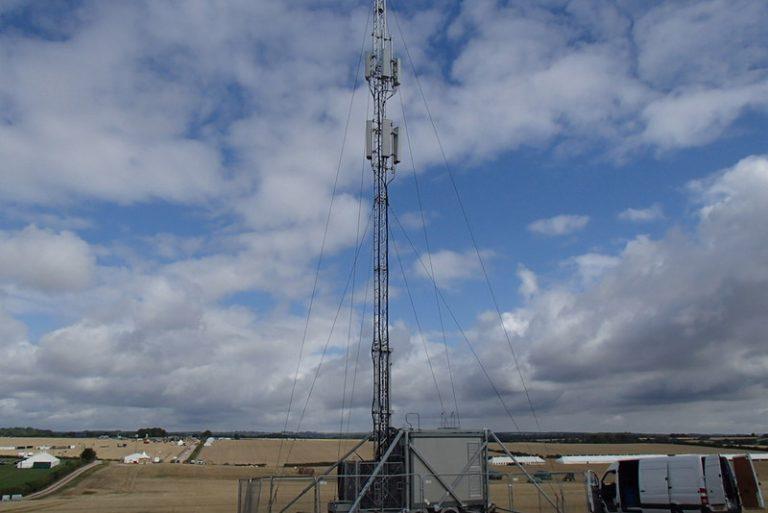 Vodafone temporary mobile mast