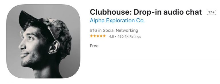 Clubhouse App Store logo
