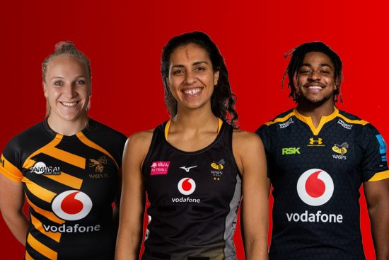 Wasps Team Picture - Elisabeth Crake, Sophie Candappa, Paolo Odogwu