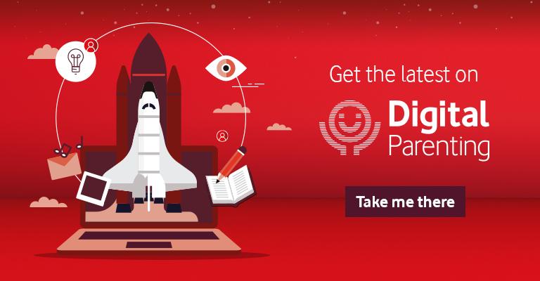Digital Parenting Rocket Banner