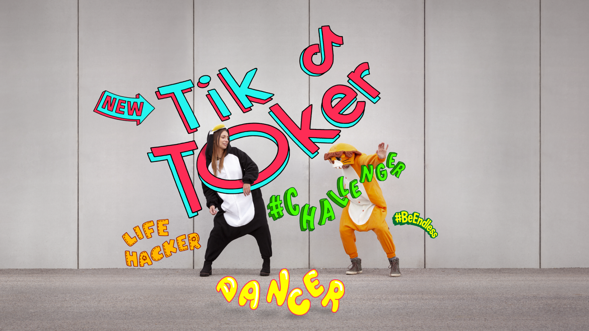 promotional graphic about endless TikTok video on VOXI