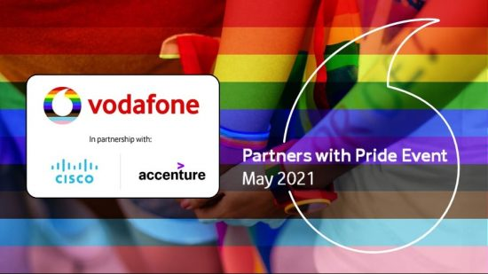 Partners with Pride May 2021: Vodafone, Cisco and Accenture