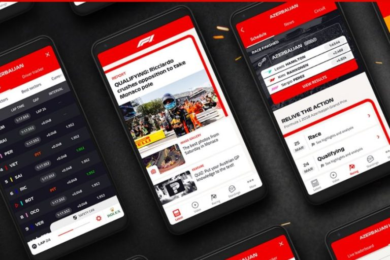 F1 App on Smartphones