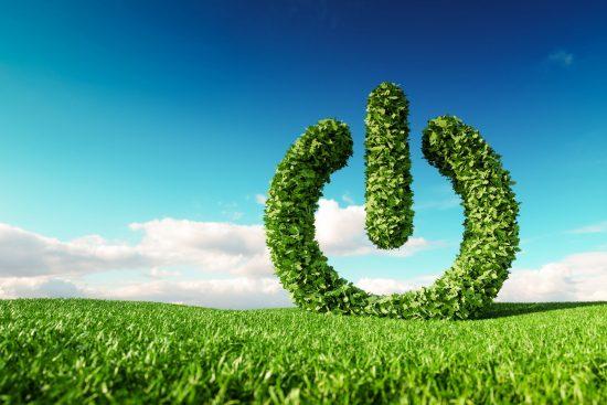 Green power button concept