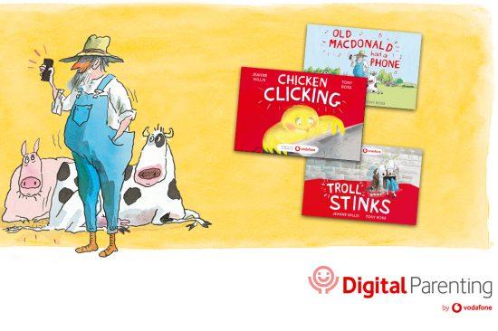 illustrative image of Vodafone's Digital Parenting ebooks 2021