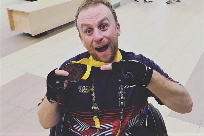 ack Cummings Invictus Games Bronze Medal