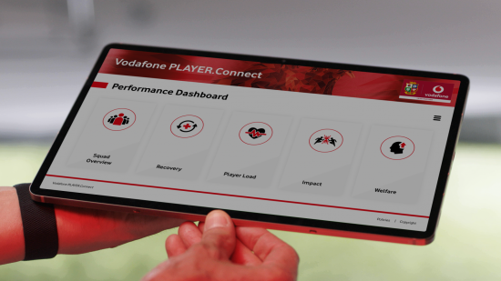 illustrative image of the Vodafone PLAYERConnect dashboard