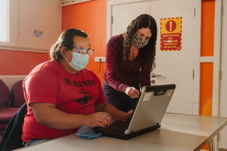 illustrative image of the digital inclusion work done by the Good Things Foundation