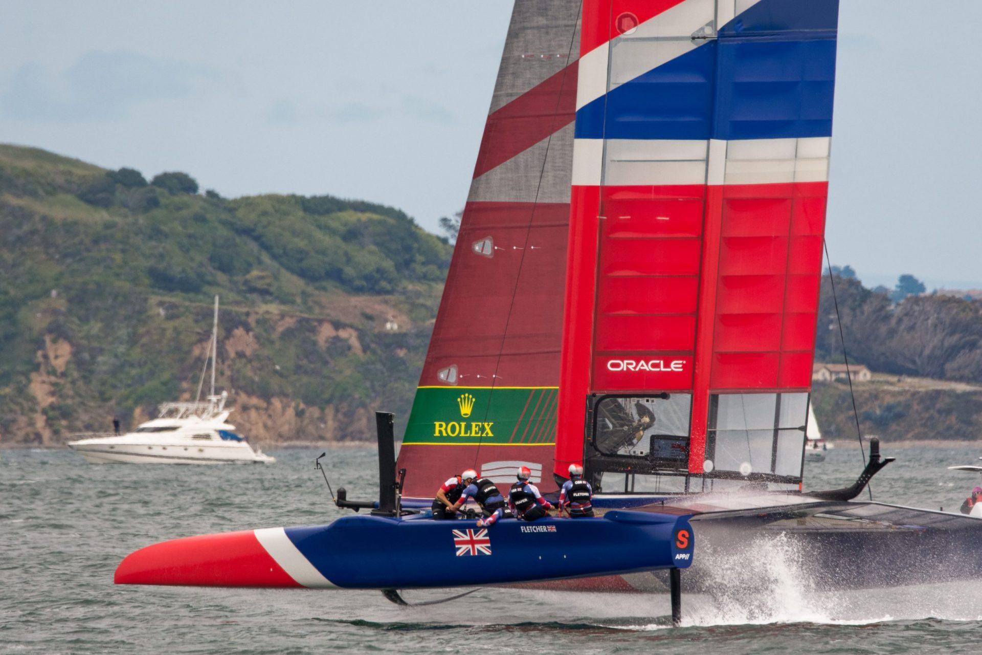British team in a SailGP race