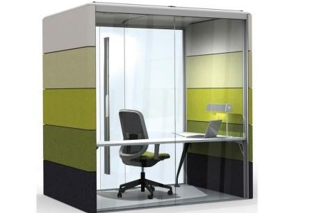 Soundproof focus pod for when you need privacy